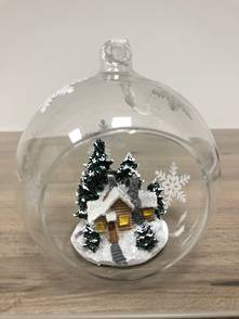 HANGING GLASS BALL WITH TREE AND HOUSE (6)