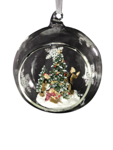 HANGING GLASS BALL WITH TREE AND PEOPLE (6)