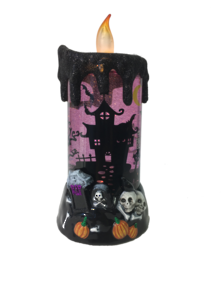PURPLE MOVING HALLOWEEN CANDLE