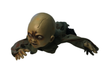 CRAWLING DEAD BABY - SINGS SCARY TUNE AS IT CRAWLS