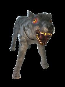 STANDING WOLF DOG