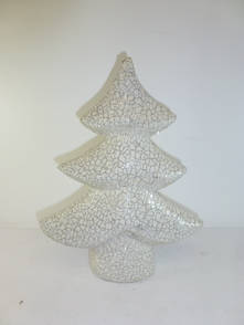 SMALL TREE WITH DISTRESSED SILVER CRACKLE