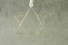 SILVER TWISTED WIRE STAR (12)