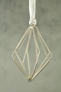 SILVER TWISTED WIRE TRIANGULAR FINIAL (12)