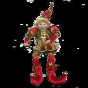 35CMH FLEXIBLE RED/GREEN POSABLE ELF