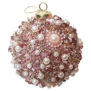 PEARL PINK DIAMANTE BALL HANGER