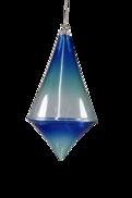 BLUE GLASS DIAMOND DROP HANGER (6)