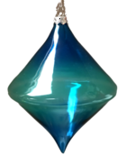 BLUE GLASS DIAMOND HANGER (6)