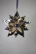 METAL FLOWER WITH BLUE BEAD HANGER (6)
