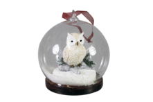 HANGING OWL IN GLASS BALL (4)
