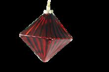 RED GLASS DIAMOND HANGER (12)
