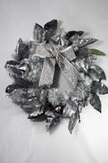 SILVER PLATINUM DRESSED WREATH