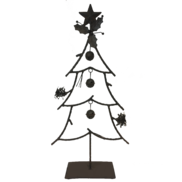 50CMH METAL XMAS TREE WITH BELLS AND HOLLY
