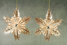 SET2 ROSE GOLD SNOWFLAKES IN 2 PATTERNS