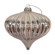 DUSTY PINK RIBBED ONION HANGER