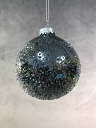 8CMD PEARLESCENT BLACK GLASS BALL (12)