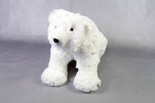 SMALL FURRY WHITE POLAR BEAR SITTING (2)