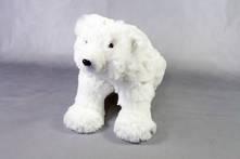 SMALL FURRY WHITE POLAR BEAR SITTING (2)