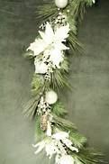 150CML FROSTED PINE GARLAND WHITE DECORATION