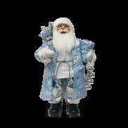60CMH STANDING SANTA IN BLUE WHITE