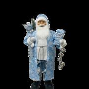 90CMH STANDING SANTA IN BLUE WHITE