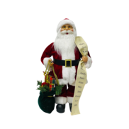30CMH STANDING SANTA IN RED WHITE