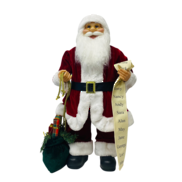 60CMH STANDING SANTA IN RED WHITE