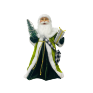 40CMH STANDING SANTA IN GREEN WHITE