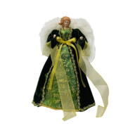 35CMH TREE TOP ANGEL IN GREEN GOLD