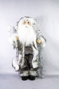 13CMH  SANTA HANGING ORNAMENT IN WHITE/SILVER (6)