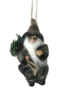 13CMH  SANTA HANGING ORNAMENT IN BROWN/BLACK (6)
