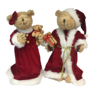 43CMH STANDING COUPLE TEDDY BEAR IN RED WHITE
