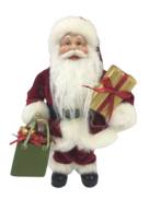30CM STANDING SANTA IN RED WITH SHOPPING BAGS