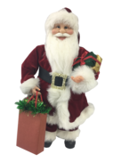 60CM STANDING SANTA IN RED WITH SHOPPING BAGS