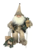 30CM SITTING SANTA IN KHAKI