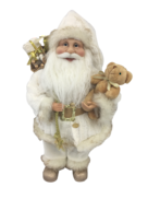 40CM STANDING SANTA IN IVORY GOLD
