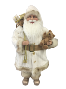 60CM STANDING SANTA IN IVORY GOLD