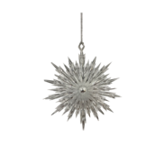 SILVER POINTY SNOWFLAKE HANGER (12)
