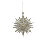 GOLD POINTY SNOWFLAKE HANGER (12)