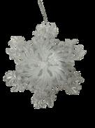 WHITE SNOWFLAKE HANGER (12)