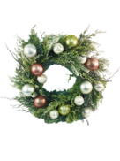 FROSTED CEDAR/BUBBLE WREATH