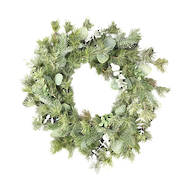 EUCALYPTUS LEAF/PINE/PINECONE WREATH