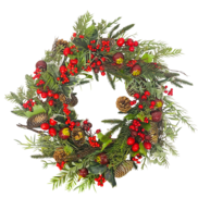 BERRY/POMEGRANATE/PINE/HOLLY WREATH
