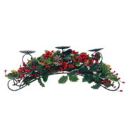 HOLLY/BERRY/NUT CANDLEHOLDER