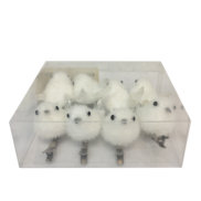 SET8 SMALL WHITE BIRDS ON CLIPS