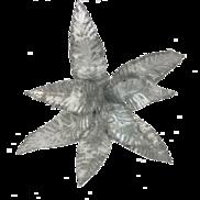 WHITE / SILVER FLOWER (12)