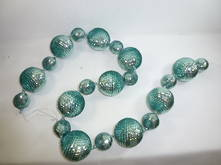 100CML MINT BALL GARLAND