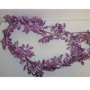 150CML PURPLE LEAF GARLAND