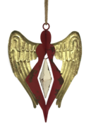 AGED RED/GOLD METAL ANGEL
