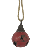 AGED RED METAL BALL BELL HANGING